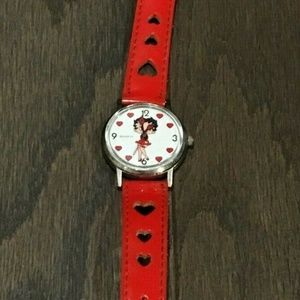 Red Betty Boo Womens Watch UNTESTED